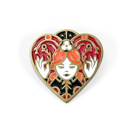 Image of Queen of Hearts Soft Enamel Pin