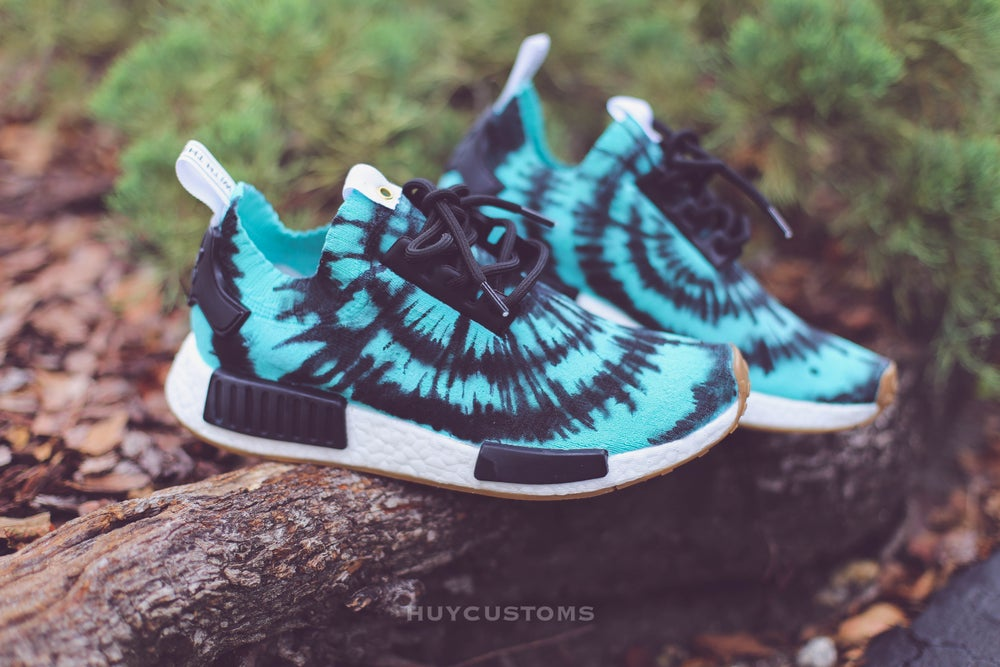 Image of Tiffany blue tie dye nmd