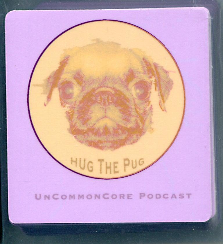 Image of Medium Hug The Pug Sticker
