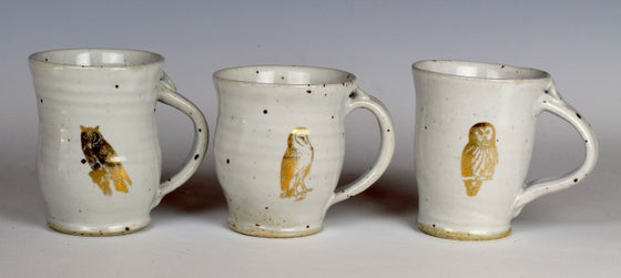 Image of Sweet Little Gold Lustre Owl Mugs