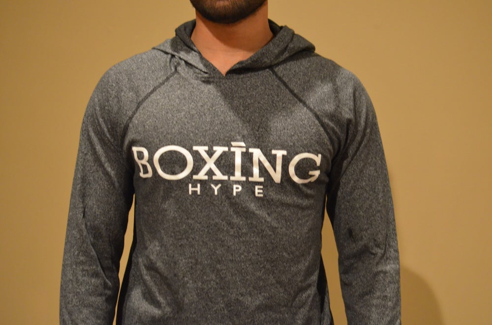 Image of Unisex Charcoal Black BoxingHype hoodies