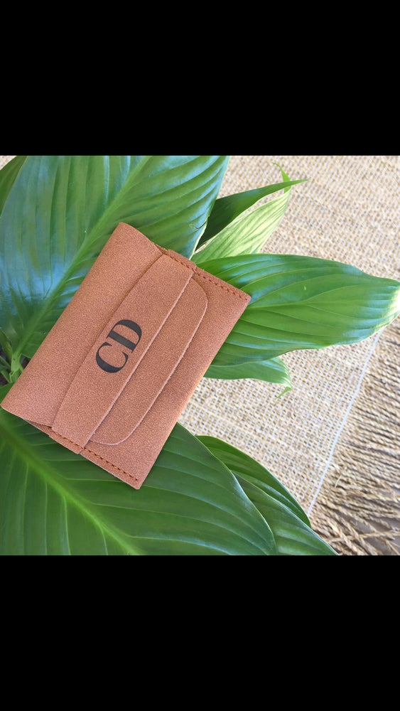 Image of Monogram card wallet