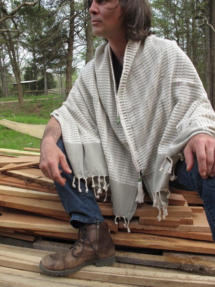 Image of Ivory Sage Poncho/Wrap
