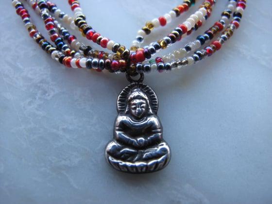 Image of Vintage Sterling Buddha Necklace