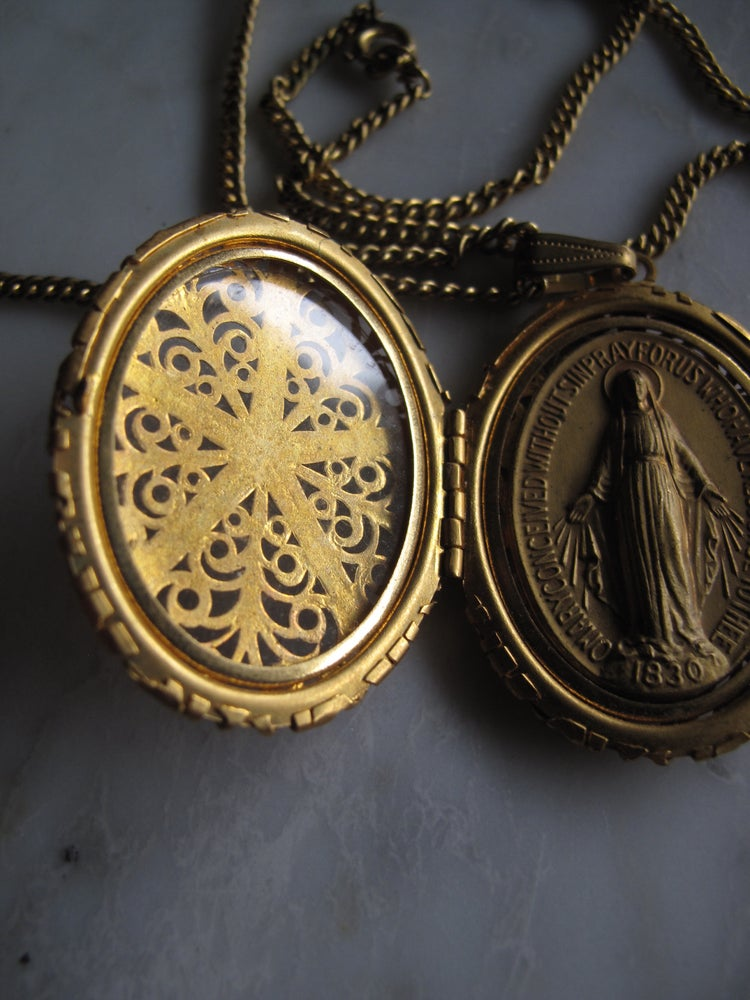 Image of Vintage Mary Locket