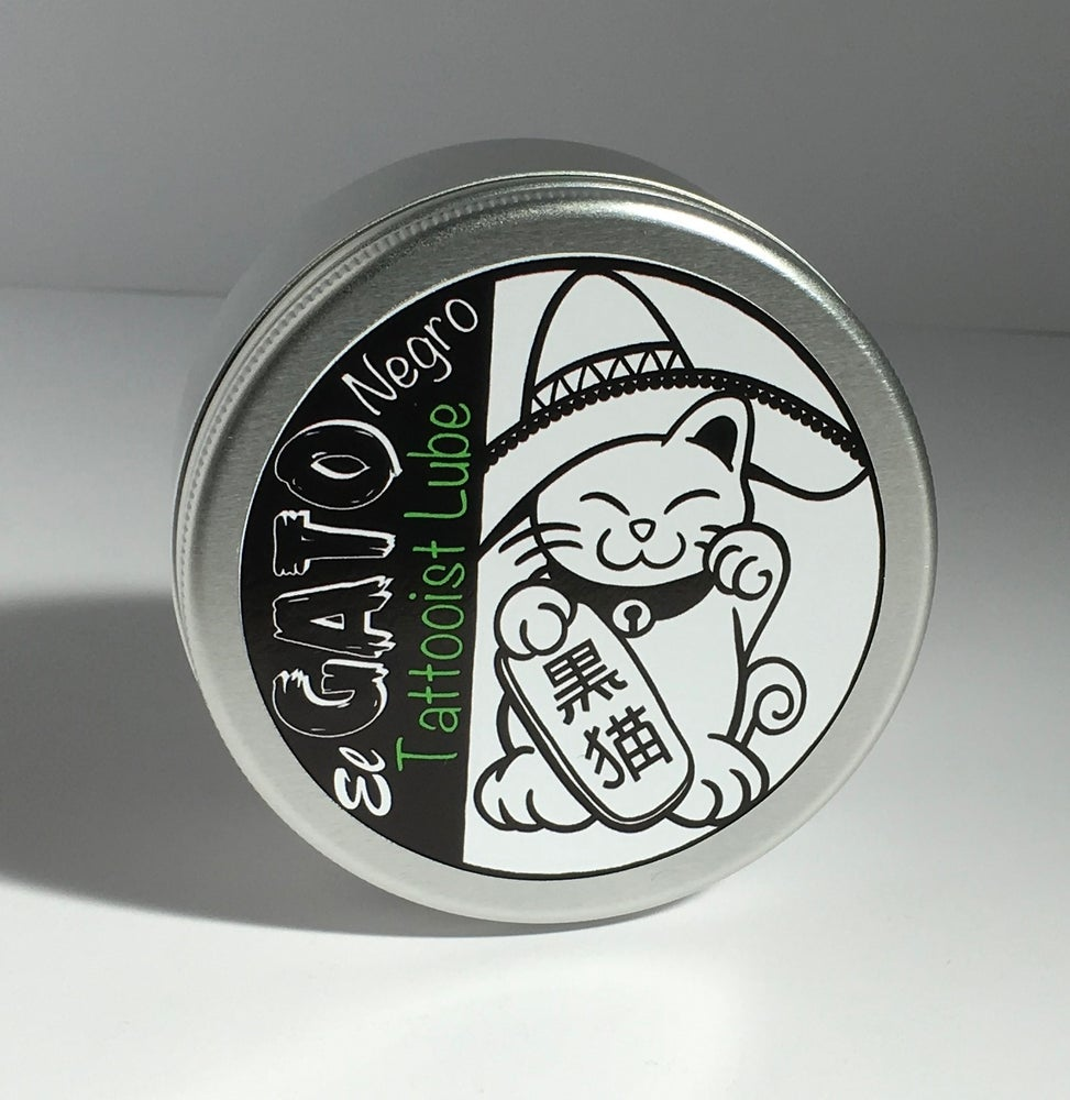 "Image of ""El Gato Negro"" Tattooist Lube 100g Studio Tin"