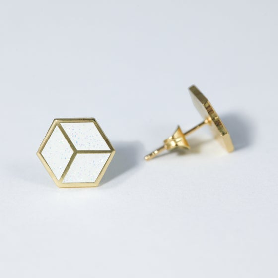 Image of Geo Square Earrings