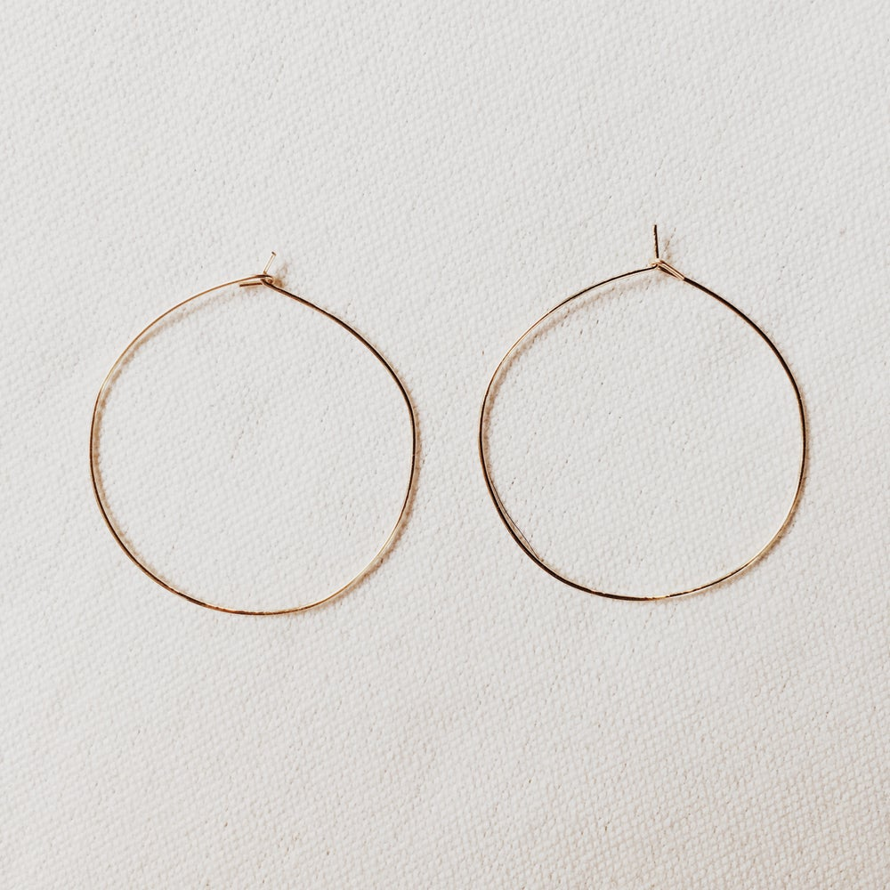 Image of Small Gold Hoops