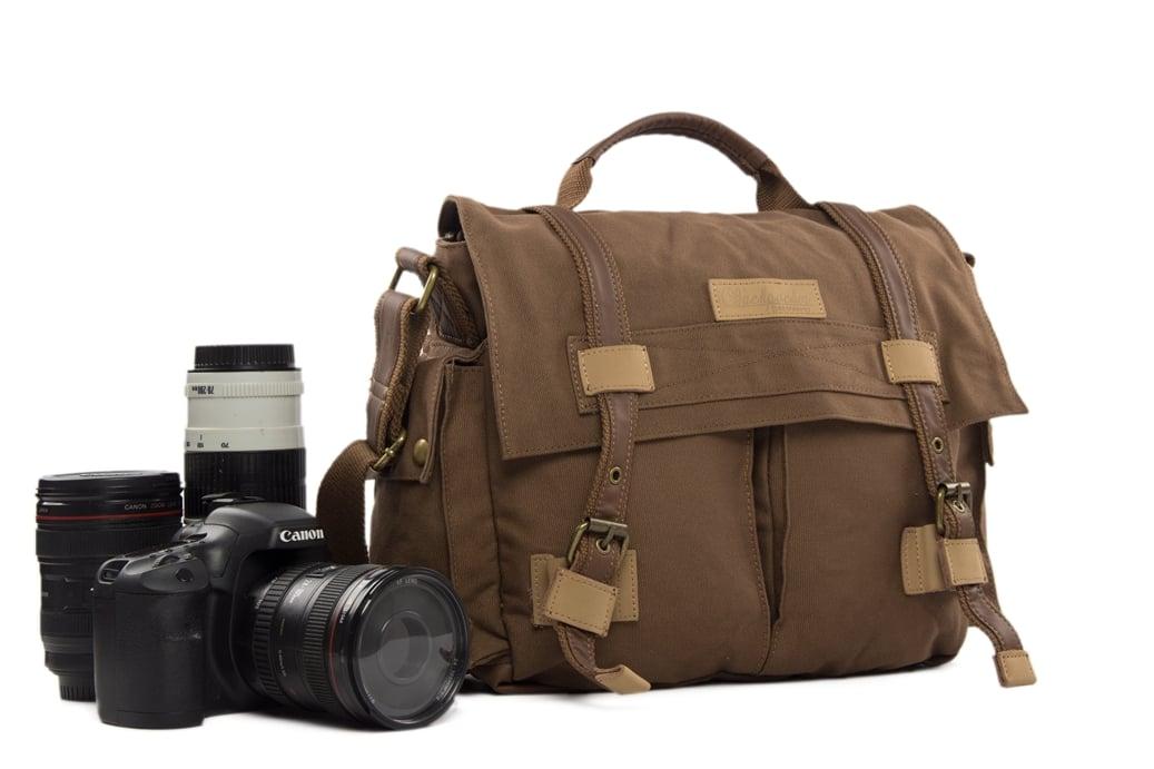 d816fb70948f Waxed Canvas DSLR Camera Bag, Messenger Bag, Diaper Bag BBK-3