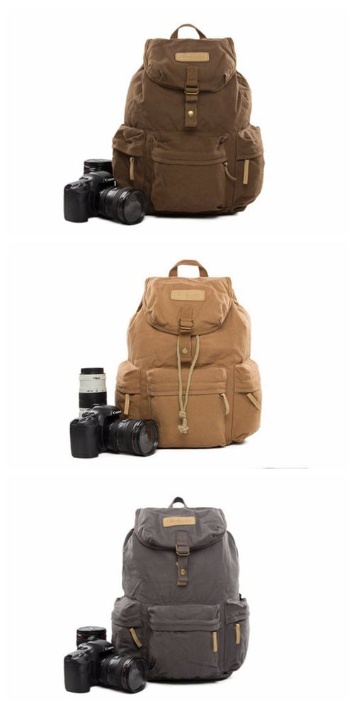 Image of Waxed Canvas Camera Backpack BBK-S2