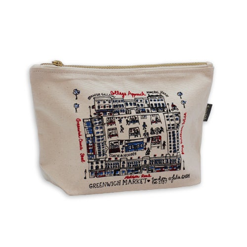 Image of Greenwich Market Zipped Pouch - Calico