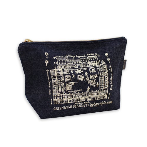 Image of Greenwich Market Zipped Pouch - Denim