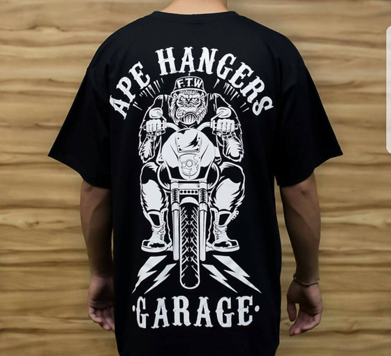 Image of BLACK APE HANGERS GARAGE - FAIRING - T SHIRT