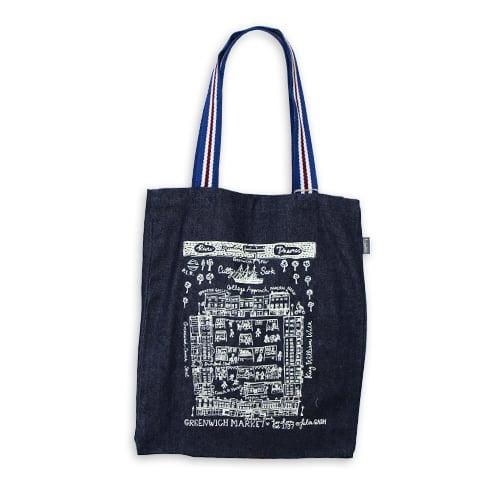 Image of Greenwich Market Large Tote Bag - Denim