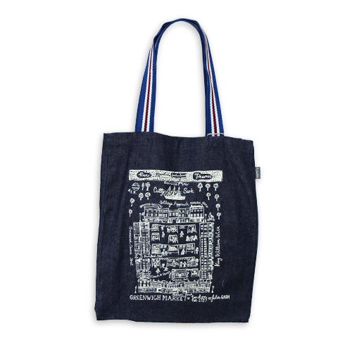 Image of Greenwich Market Large Tote Bag - Denim
