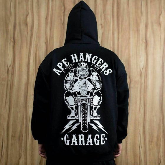Image of FAIRING BLACK- APE HANGERS GARAGE HOODIE