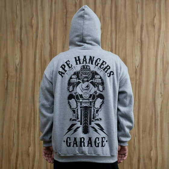 Image of FAIRING GREY - APE HANGERS GARAGE HOODIE