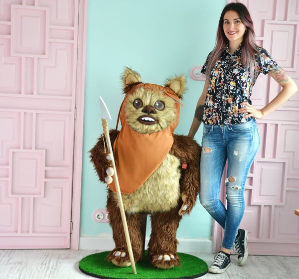 Image of Ewok plush toy. Star wars.