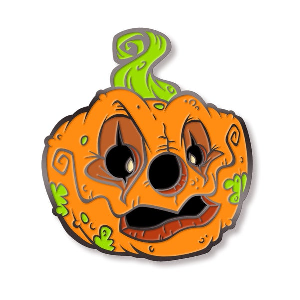 "Image of ""Carnival of the Zombie Pumpkins!"" Enamel Lapel Pin"