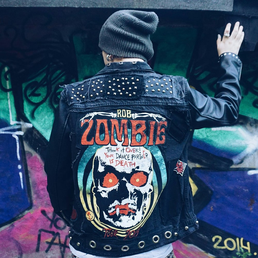 Image of Rob Zombie  Denim / Leather Jacket