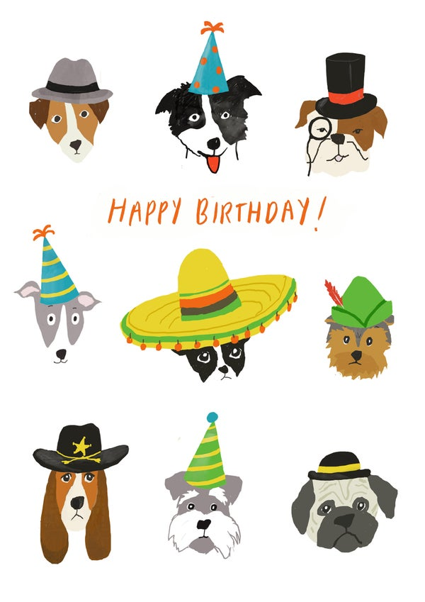 Image of Dogs with Hats