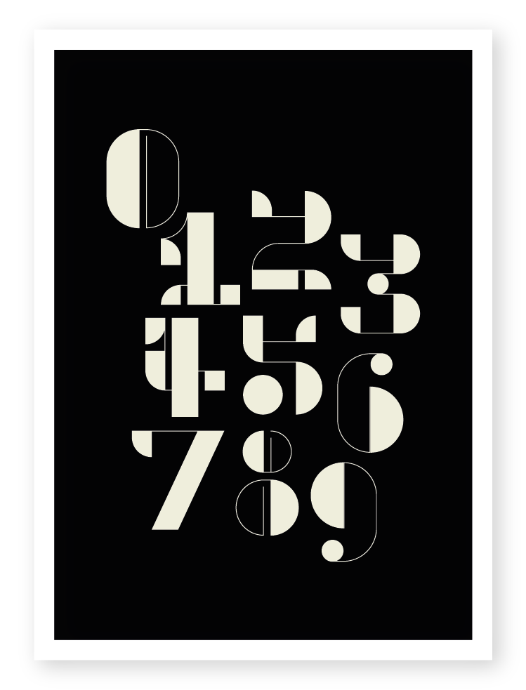 Image of Art Deco Numbers