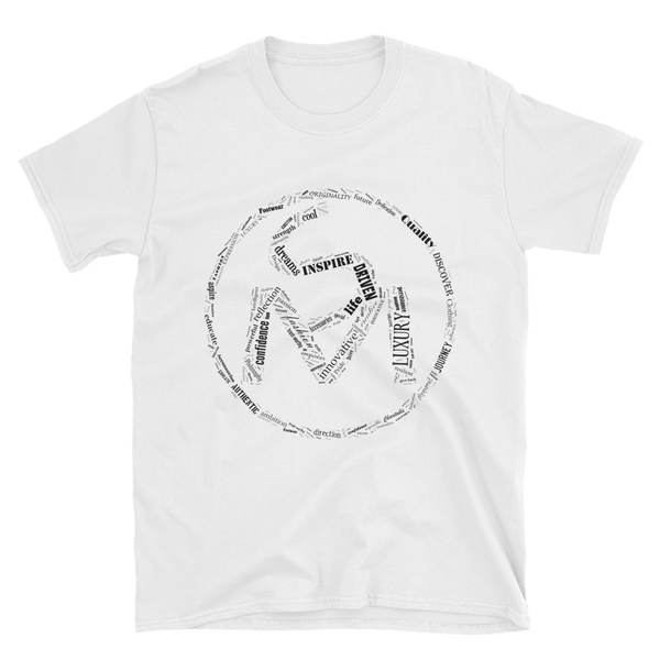 Image of The S.O.L.E. Movement Unisex Black Word Art Tee in White