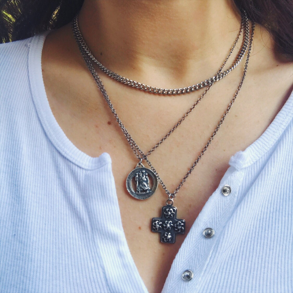 Image of Cross Pendant Necklace