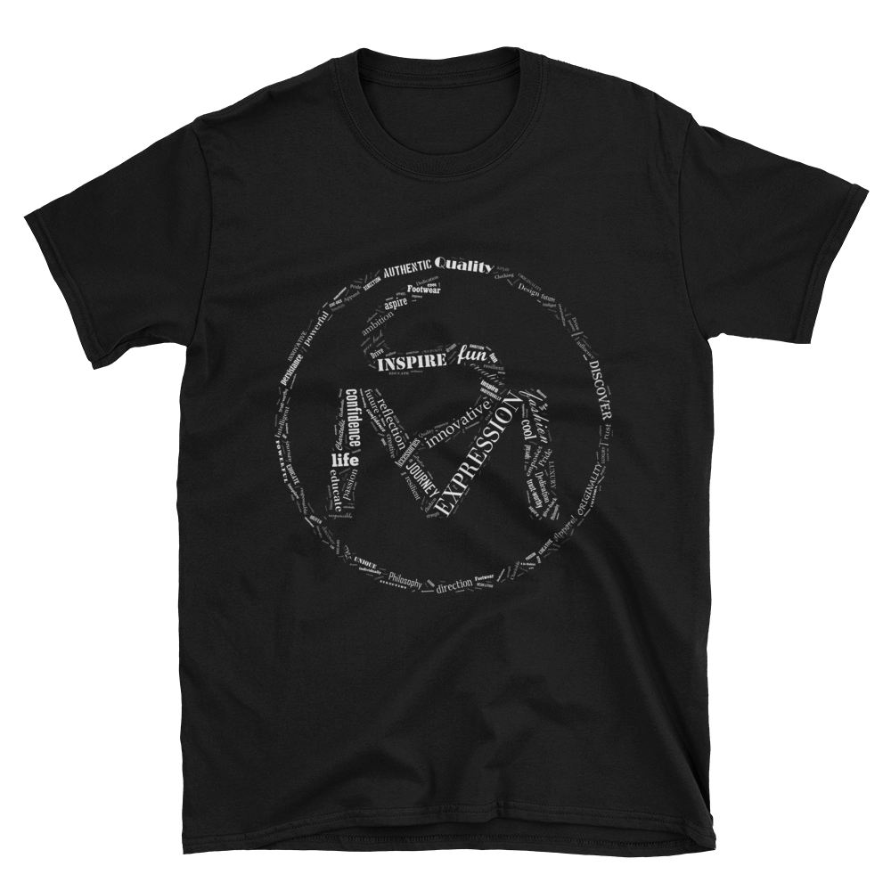 Image of The S.O.L.E. Movement Unisex White Word Art Tee in Black