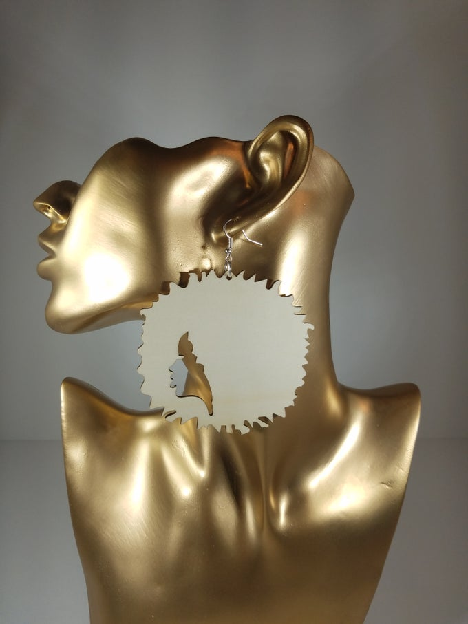 Image of Big Spiked Fro Earrings