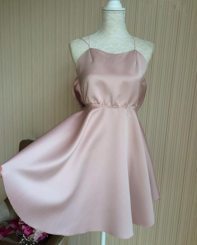 Cross Back Cute and Sexy Short Party Dresses, Homecoming Dresses, Short Women Dresses