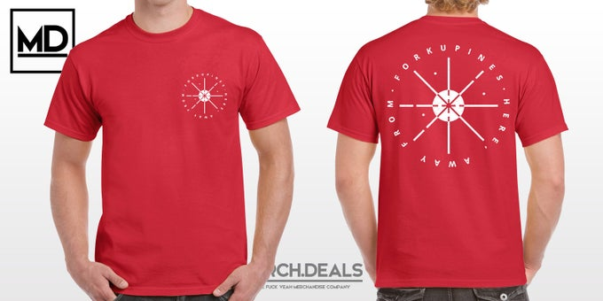 Image of Circles, dunkelrot - Shirt