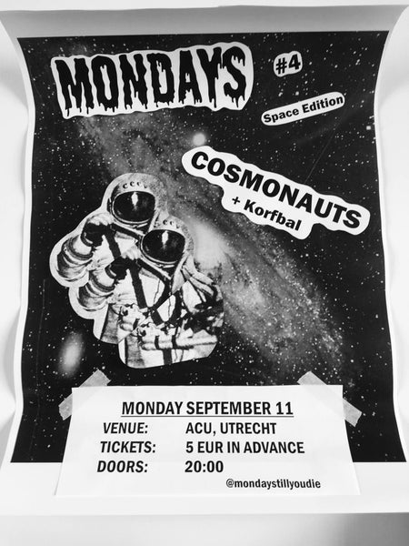 Image of MONDAYS #4: Cosmonauts & Korfbal 11 september