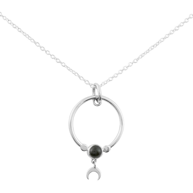 Image of Sterling Silver & Black Onyx Dara Orbita Necklace