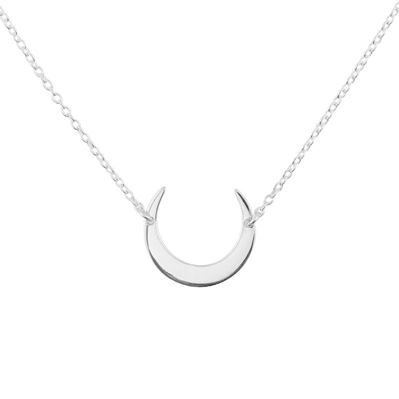Image of Sterling Silver Moon Eclipse Necklace