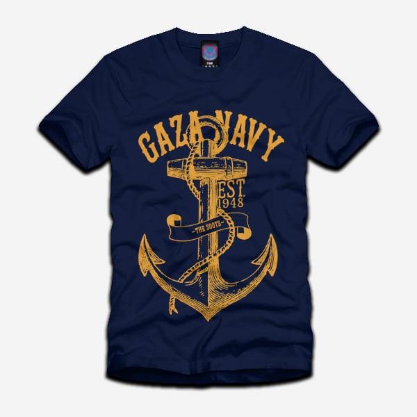 Image of 'Gaza Navy' Tee *REFIX*