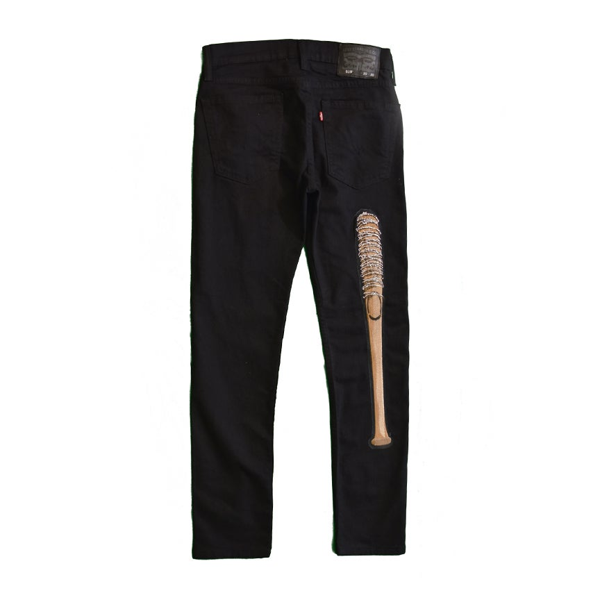 Image of theblacktongue/levi's® extreme skinny bat out of hell jeans