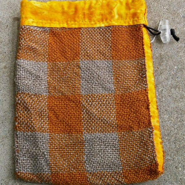 Image of Gold and Silver Checkerboard, gaming bag