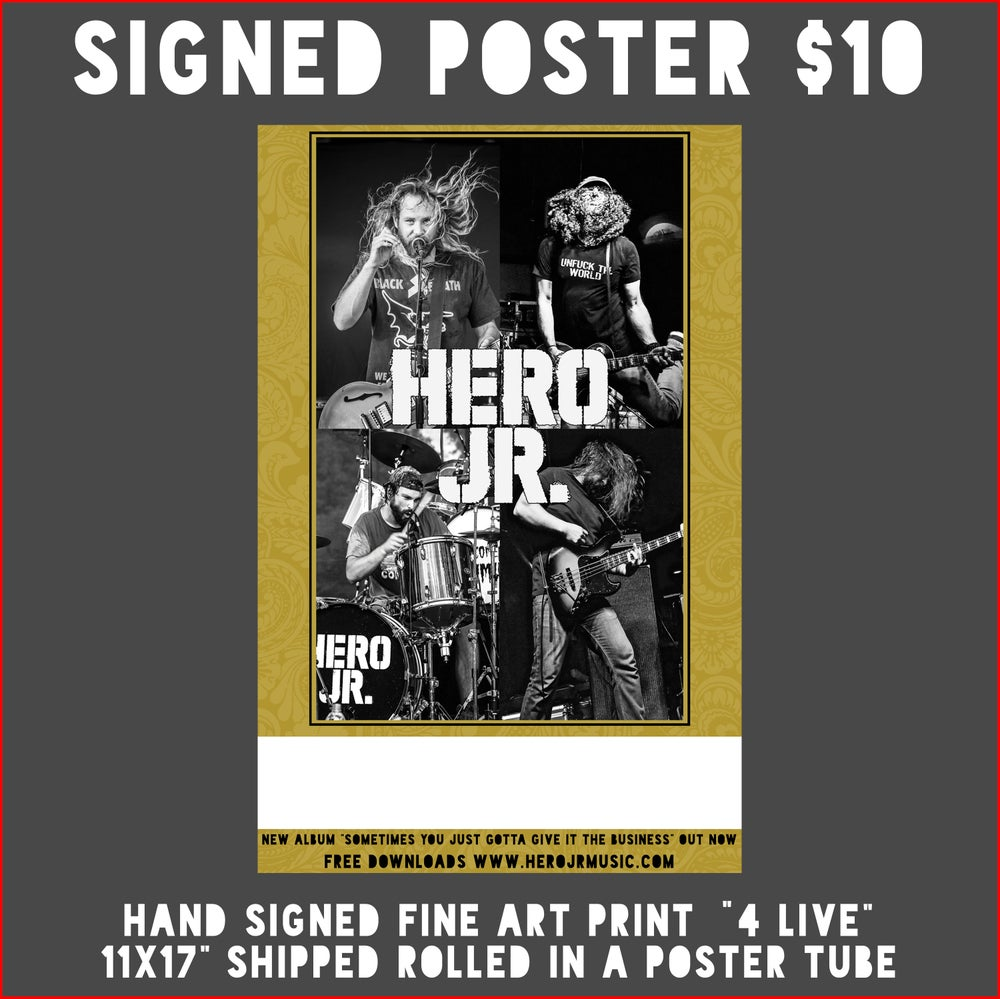 Image of Live Poster Signed by Band