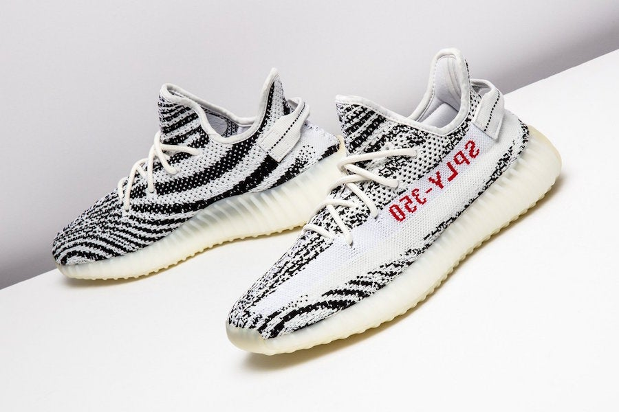... Image of Adidas Yeezy Boost 350 V2 Zebra