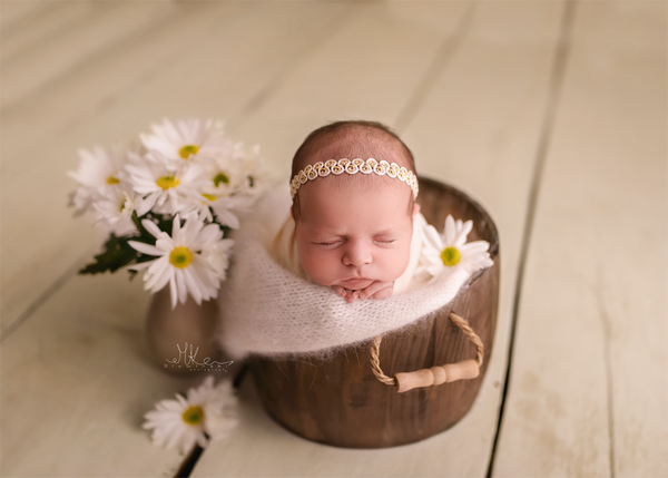 Image of Ivory Gold Headband