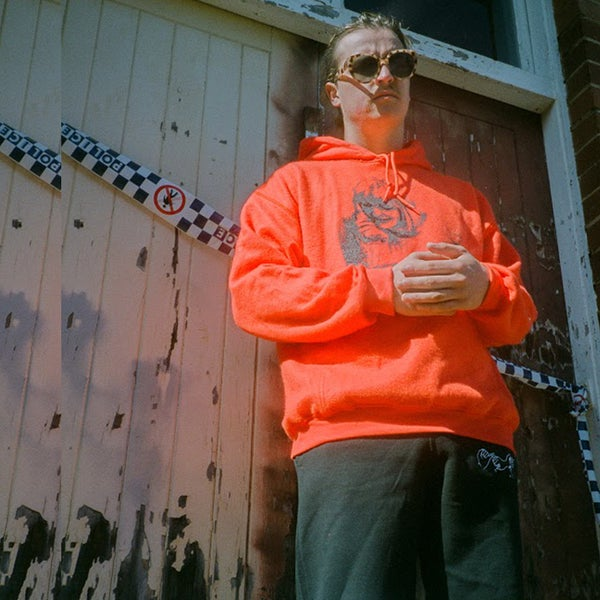 Image of ORANGE REVERSIBLE HORROR HOODIE
