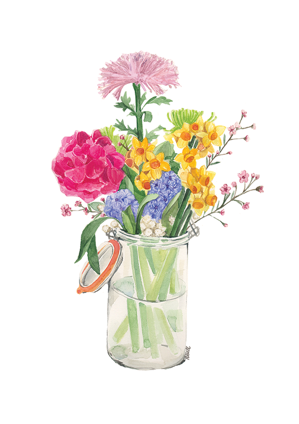 Image of Limited Edition Print - Spring Time In A Vase