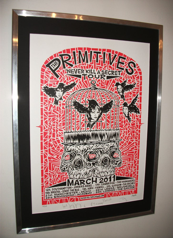 Image of A2 SCREEN PRINTED 2011 TOUR POSTER