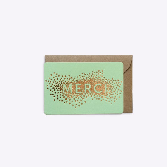 Image of MINI-CARTE CONFETTIS MERCI VERT