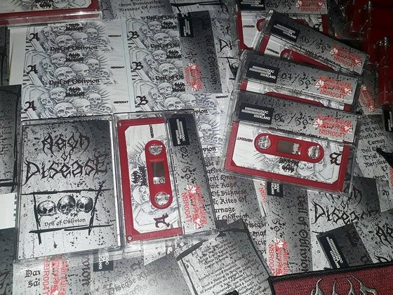 Image of Aeon of Disease - Veil of Oblivion Tape + Patch lim to 50