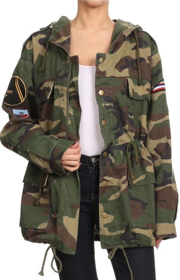 Image of Hooded camo jacket