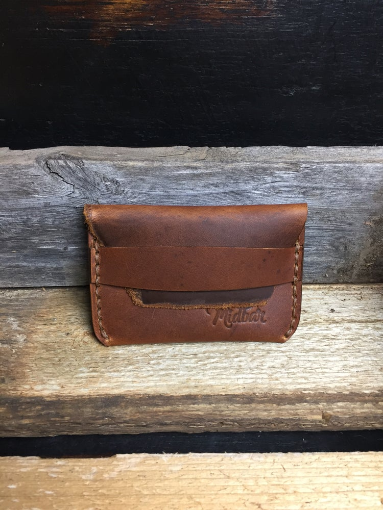 Image of Midbar Card Wallet with Leather strap closure