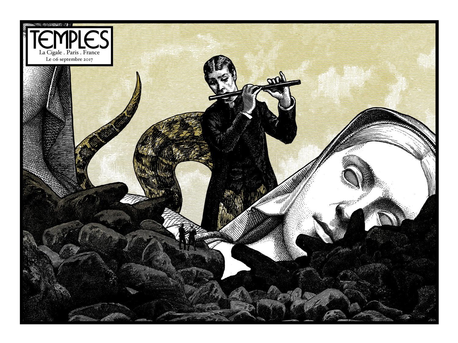TEMPLES gig poster - La Cigale Paris September 2017