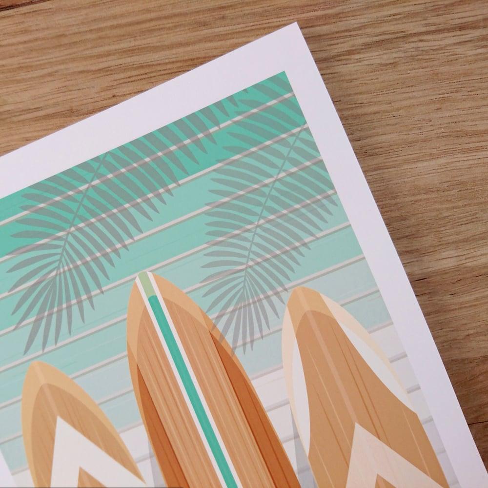 Image of MINIPOLA - Affichette Surf